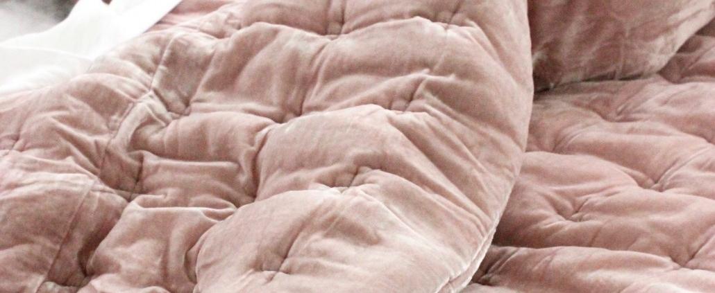 Comforter PIN VELVET SOFT Pink