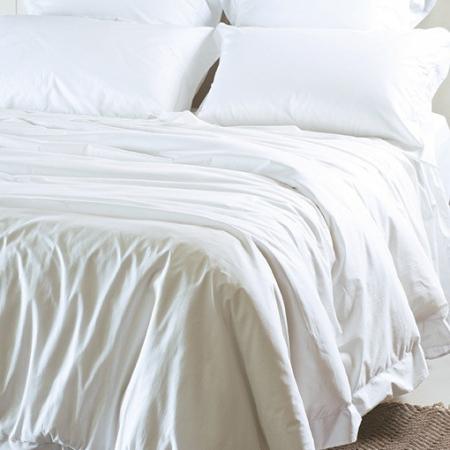 White Italian Cotton Duvet Cover AJOUR