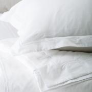 Italian White Cotton Duvet Livorno | White Trim