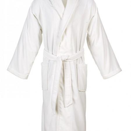 Luxury Velour Bathrobe WHITE | Christy Supreme