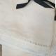 White Linen Table Napkins   Emmeline Lace