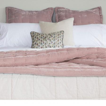 Velvet Pin Comforter Dusky Pink
