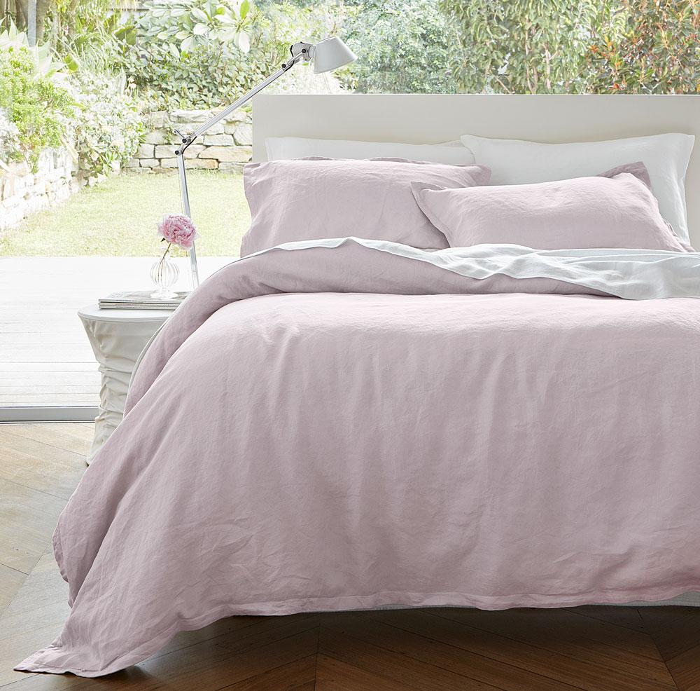 Pink Linen Duvet Cover Set Rosa Linen Boutique