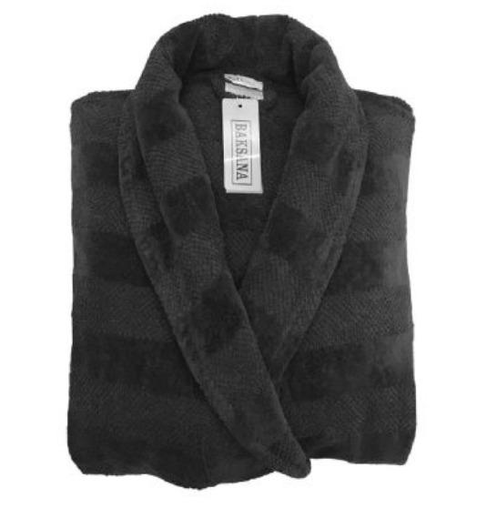 Men's Winter Bath Robe BLACK
