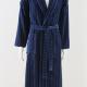 Men's Velour Robe Navy