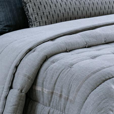 Linen Comforter Luchesi SILVER