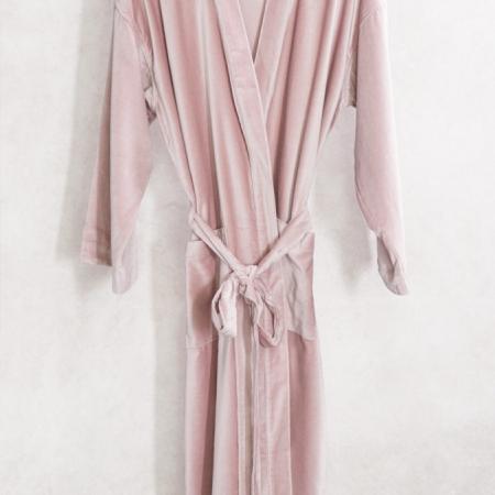 VELVET Housecoat - NOKORI Blossom Pink