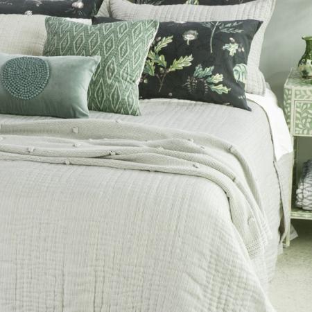Classic Stripe Linen Bedspread