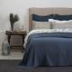 Blue Cotton Bedspread Porto Marcella - Made in Portugal