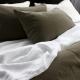 VIDA PURE LINEN Sheets KHAKI - Luxury