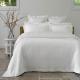 White Cotton Matelasse Bedspread Set SERENITY