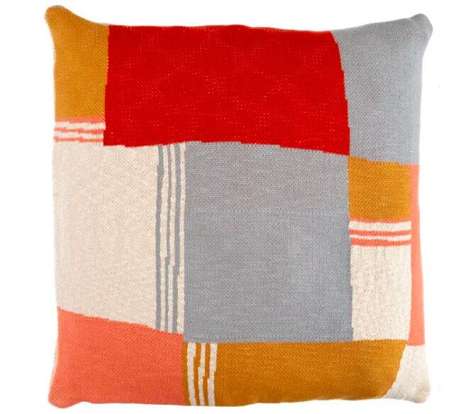 Knitted Cushion REGO   Handmade UK