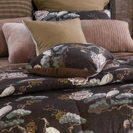 KUREN WALNUT Comforter | Japanese Crane
