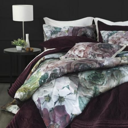 FLORAL Quilted Comforter Set AUBREY