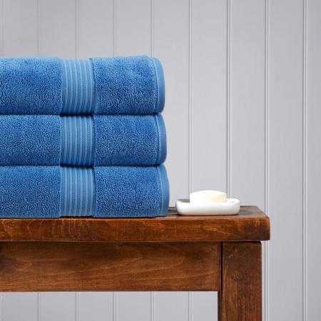 CHRISTY Supreme Towels CADET BLUE - LUXURY