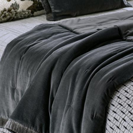 Graphite VELVET Comforter TRAMONTO