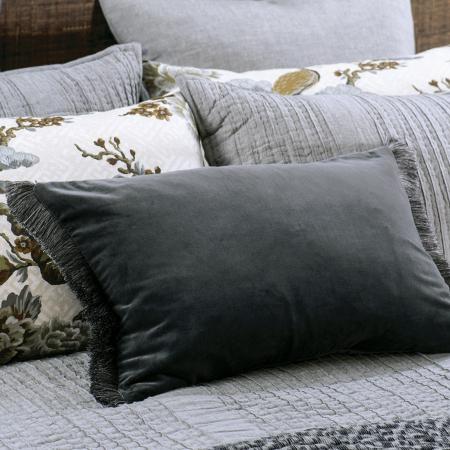 Graphite Velvet Cushion TRAMONTO