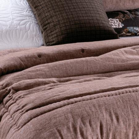 Linen Comforter Marcello ROSEWOOD.