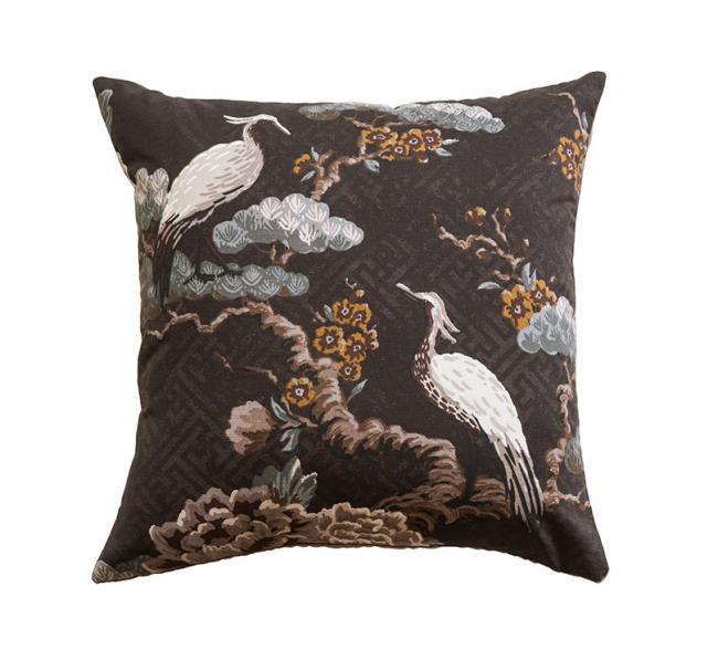 Kuren CAROB Cushion   Japanese Crane