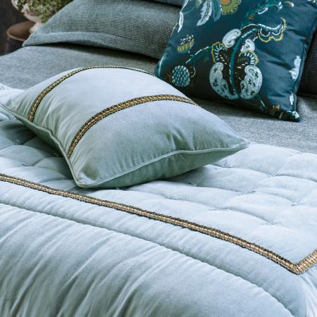Velvet Comforter LUCHESI SMOKE BLUE