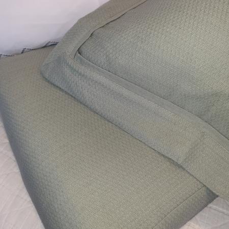 Cotton Duvet Cover PIQUE SAGE