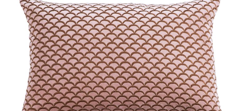 Cotton Velvet Cushion ARCO Antique Rose/Copper