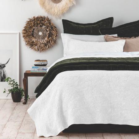 Cotton Bedspread Set ECHO WHITE