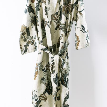 Women's Cotton/Linen Robe | Capriccio Natural