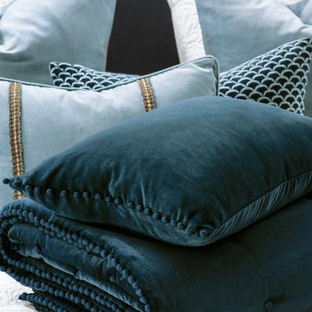 Velvet Comforter Mateo Prussian Blue