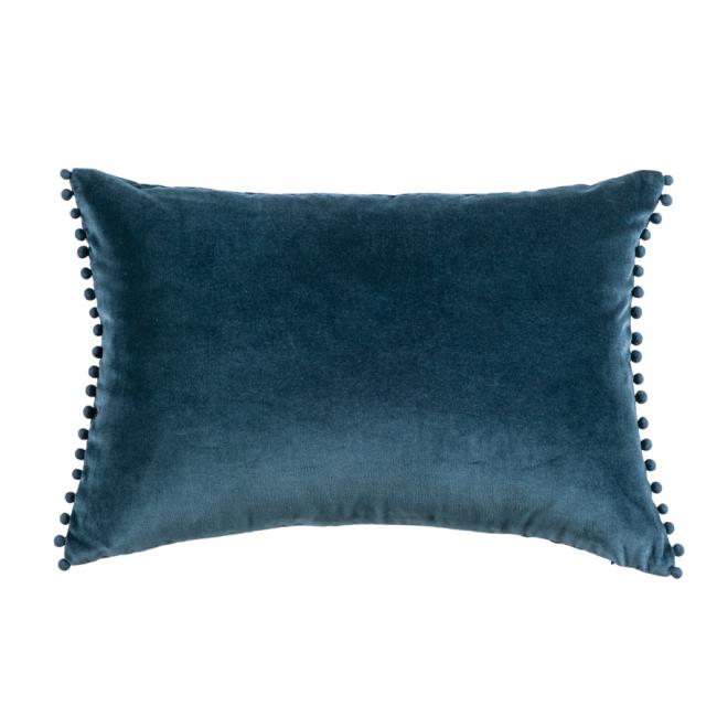Velvet Cushion Mateo Prussian Blue