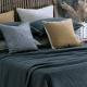 Matelasse Woven Cotton Bedspread | Mizumi Midnight