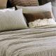 Stripe Linen Bedspread PEZZATO NATURAL
