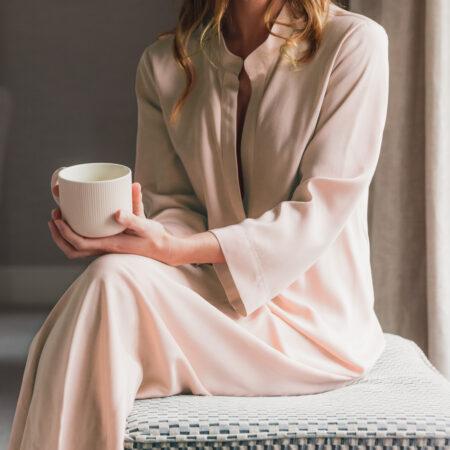 Night Shirt AMELIA BLUSH | Elegant Loungewear