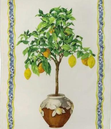 Linen Tea Towel LEMONAIA DECORO