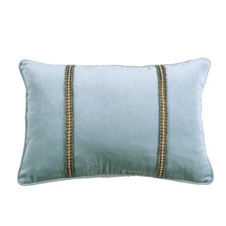 Velvet Cushion LUCHESI Smoke Blue