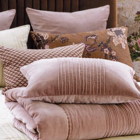 VELVET Comforter PIEGA Antique Rose