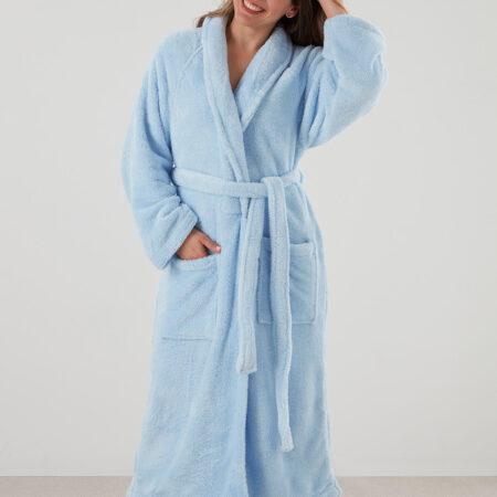 Women's Cosy Robe MANOR LIGHT BLUE