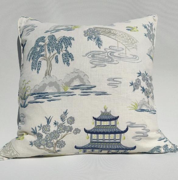 Linen Cushion   Chinoiserie Imperial Garden