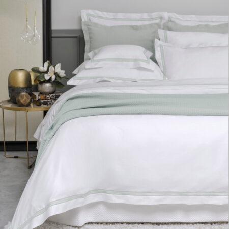 Cotton Matelasse Bedspread DOVE | Made in Portugal