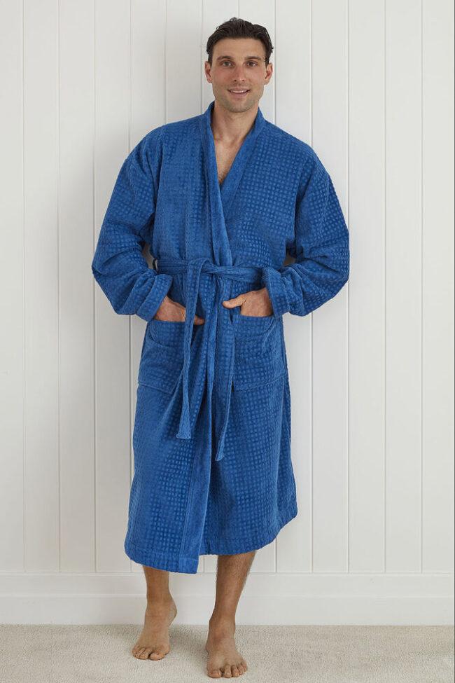 Men's Robe FABIAN BLUE