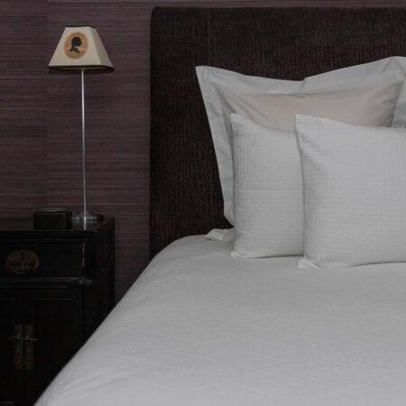 Cotton Bedspread Set GRASSI WHITE   Made in Portugal
