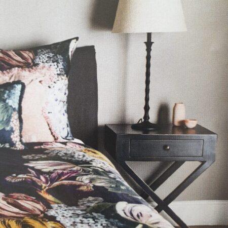 Bedside Table CROSS LEG BLACK