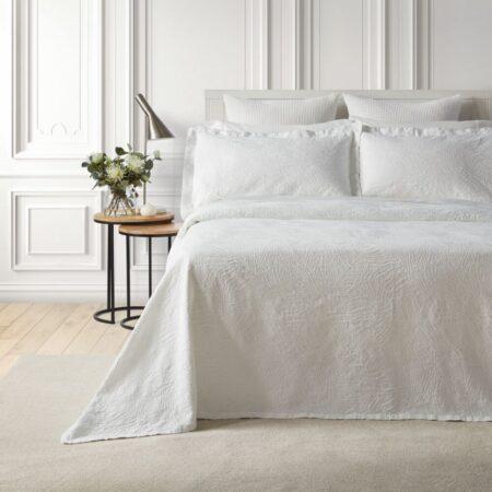 Cotton Bedspread DUNES WHITE