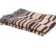 Stripe Wool Silk Throw