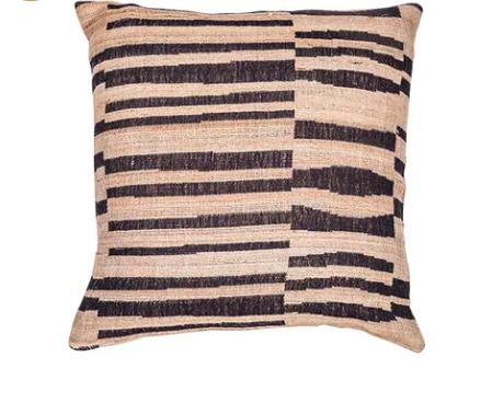 Stripe Wool Silk Cushion