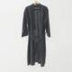 Pure Linen Robe Onyx