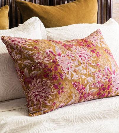 Floral Antique Gold Pillowcase GIARDINO