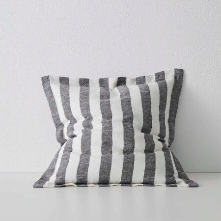Striped Linen Cushion Luca Shadow