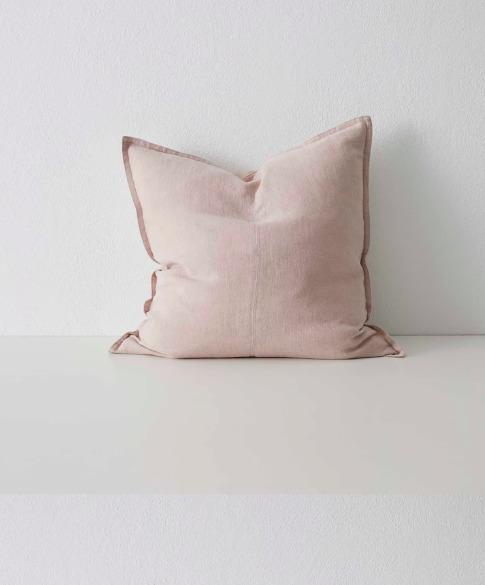 Linen Cushion Como Blush