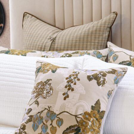 Foral Cushion Chabana Blush